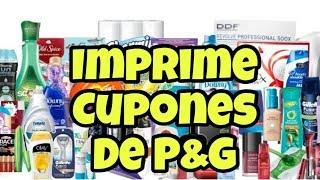 COMO IMPRIMIR CUPONES DE P&G / IMPRIME CUPONES DE TIDE AQUI