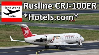Rusline CRJ-100 *Hotels.com* landing in Berlin-Tegel