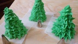 Decorare con glassa reale (alberi) - Royal icing decorations (trees) by ItalianCakes