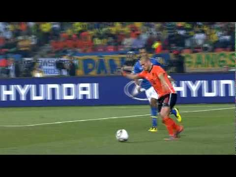 Netherlands vs Brazil Highlights 2 - 1   Goals Highlights World Cup 2010