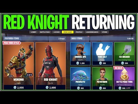 *NEW* Fortnite: RED KNIGHT IS RETURNING SOON!?! | (De-bunked and Solved)