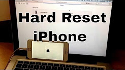 Hard reset iphone 6s/ 6s plus, SE, 6/ 6 / plus, 5s, 5c,5, 4s,4 (reset to factory settings)