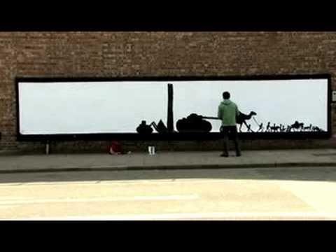 SAM3- London Street Art Billboard For Nakba60.org.uk