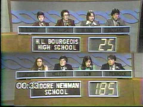 Varsity Quiz Bowl - 1980-1981 - Isidore Newman School vs H. L. Bourgeois HS