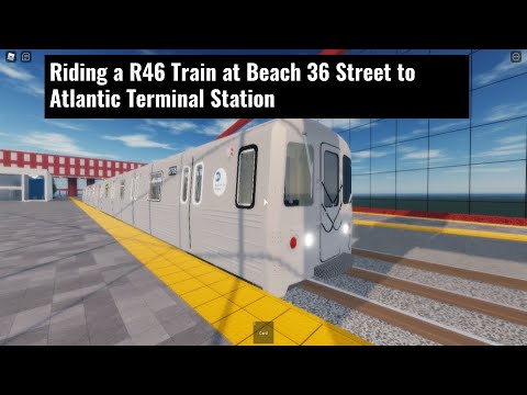 Riding a R46 Train at Beach 36 Street to Atlantic Terminal Station |