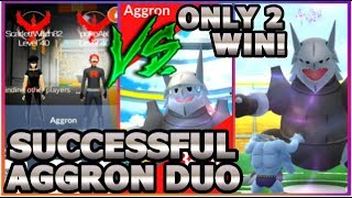 AGGRON DUO IN POKEMON GO | 2 TRAINERS BEAT AGGRON RAID BOSS