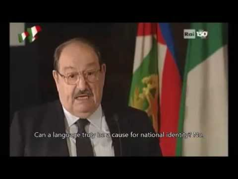 Umberto Eco on the Italian Language - Part 1 (English Subtitles)