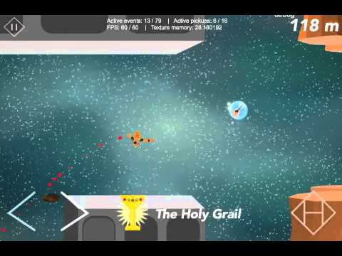 Hanger Space Dev video #1 - Swinging through Asteroids