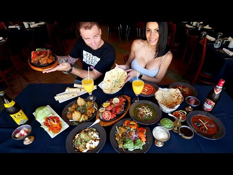 Indian Food MUKBANG 15+ Indian Dishes with Nina Unrated | Miami Beach, Florida