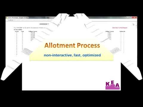 CET-2013 Allotment Process Presentation Travel Video
