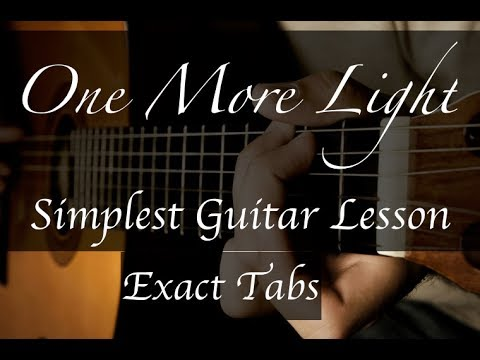 Linkin Park One More Light - Guitar Lesson - Exact Tabs - How to Play
