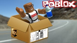 MAILING MYSELF IN A BOX CHALLENGE IN ROBLOX - ROBLOX ROLEPLAY