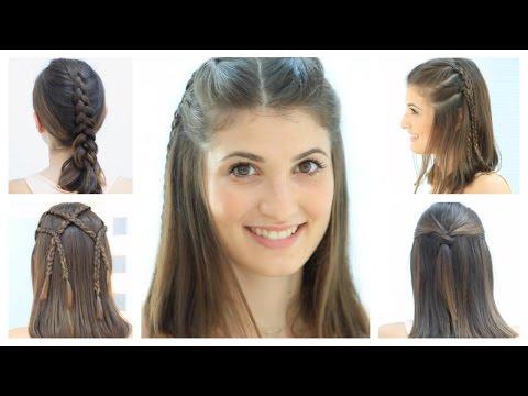 Peinados Faciles Para Cabello Corto Y Media Melena Youtube