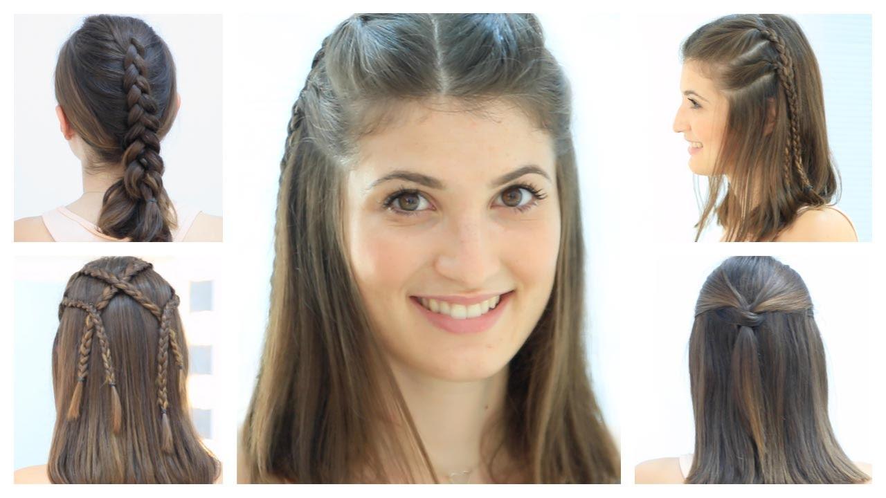 Peinados faciles cabello medio largo