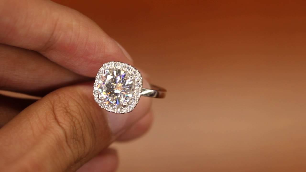 Diamond & 3 carat Forever One Moissanite Ring