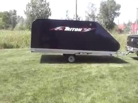 Triton Xt12 101 Aluminum Tilt Bed Snowmobile Trailer