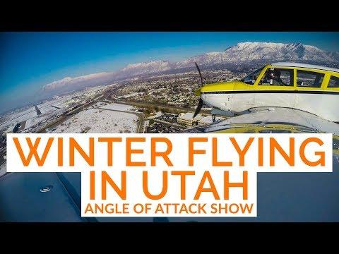 Winter Flying in UTAH & Commercial Pilot Training - 동영상