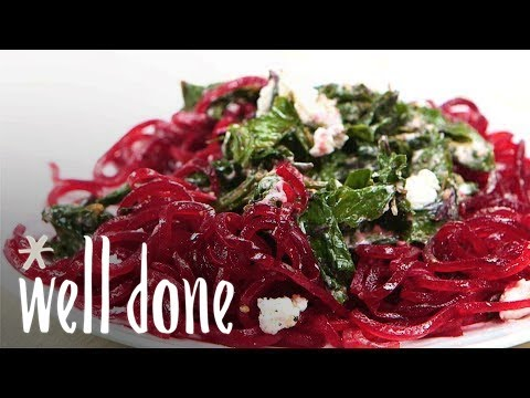 How To Make Beet Pasta With Beet Greens And Goat Cheese | Recipe | Well Done