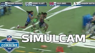 40-Yard Dash Simulcam: Shaquem Griffin vs. Sherman, Zeke, Julio & More! | NFL Combine Highlights
