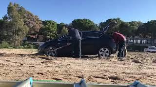 Kuma saplanan araç