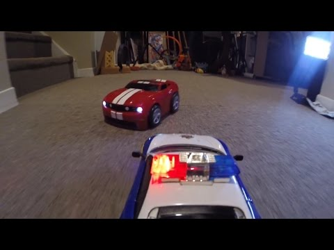 Thumbnail: RC POLICE CHASE Monster Truck Action CRASHES Toy FUN!