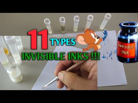 11 Types Of Heat Activated Invisible Inks. How To Make Invisible Ink. How To Make Invisible Ink Pen.