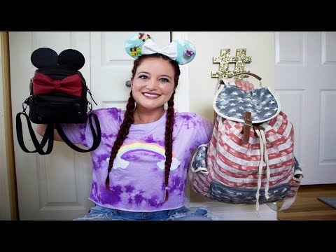 PACKING FOR WALT DISNEY WORLD. WHAT'S IN MY DISNEY BAG 2017 | LUGGAGE. CARRY ON. PARK BAG.