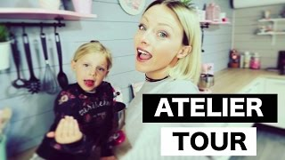 ♡• ATELIER TOUR | NOUVELLE DÉCO & VISITE DE MON ATELIER •♡