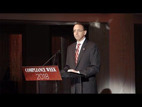 Justice Department Views on Corporate Accountability - Rod J. Rosenstein, Deputy Attorney General