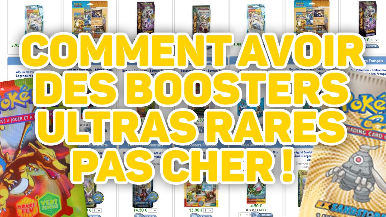 tuto comment avoir des booster pokemon ultra rare pas cher. Black Bedroom Furniture Sets. Home Design Ideas