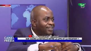 Choc Sur le Plateau de Canal presse Dr Fridolin NKE Vs Pr ABOYA MANASSE (Canal presse du 08/11/2020)