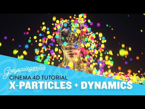X-particles Cinema 4D Tutorial - Dynamics, Attractors,  And Color Changing Particles