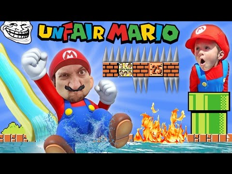 UNFAIR MARIO!IMPOSSIBLE GAME? w/ FGTEEV Duddy & Chase (Super Mario Bros Fun Gameplay)