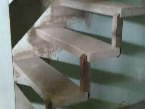 Construção De Uma Escada Simples Feito De Placa De Concreto Youtube