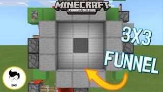 Minecraft PE SMALLEST 3x3 FUNNEL DOOR! (PE/Xbox/Windows10/Switch)