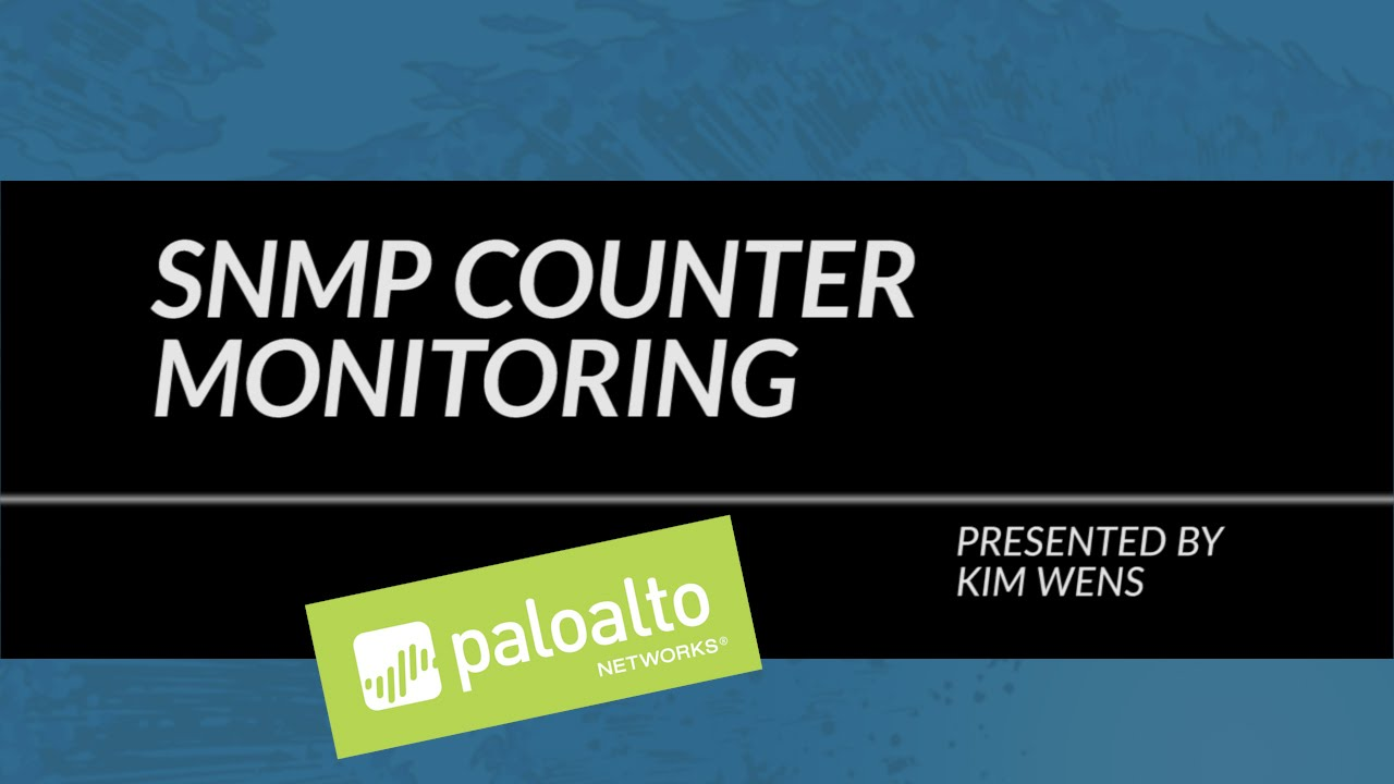 Palo Alto Networks Knowledgebase: SNMP Counter Monitoring