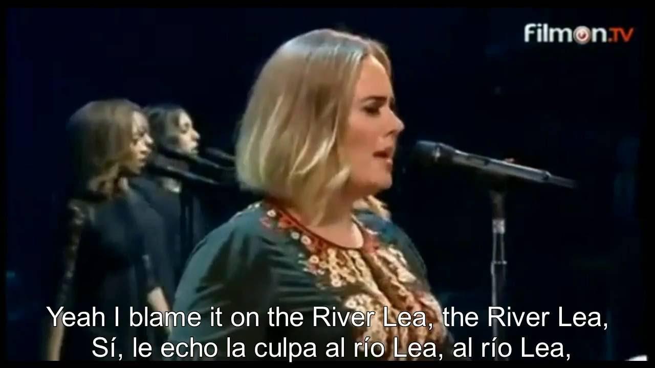 Adele River Lea Live In Concert Sub Espanol Lyric