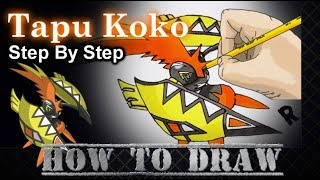 How To Draw Tapu Koko Step By Step