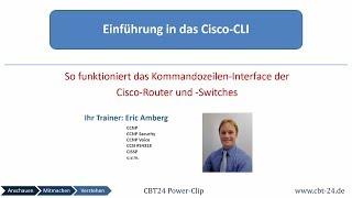 Cisco Router -  Einführung in das Cisco CLI (CBT24 Power Clip)