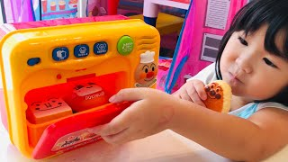 アンパンマン まほうの電子レンジでおりょうりごっこ!おかしやおにぎりにへんしん!Anpanman Microwave Toy