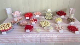 Wedding Dessert Table Set Up For Susan & Chris