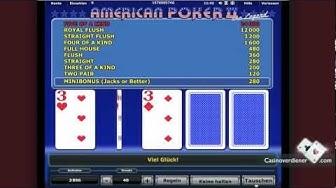 American Poker 2 online spielen - CasinoVerdiener