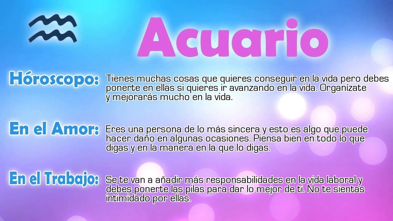 Hor scopo del d a acuario 10 06 2015 youtube for Horoscopo de hoy acuario