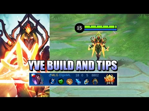 ARE YOU LOOKING FOR AN YVE GUIDE? NEW HERO IN MOBILE LEGENDS YVE  SKILLS AND BUILD