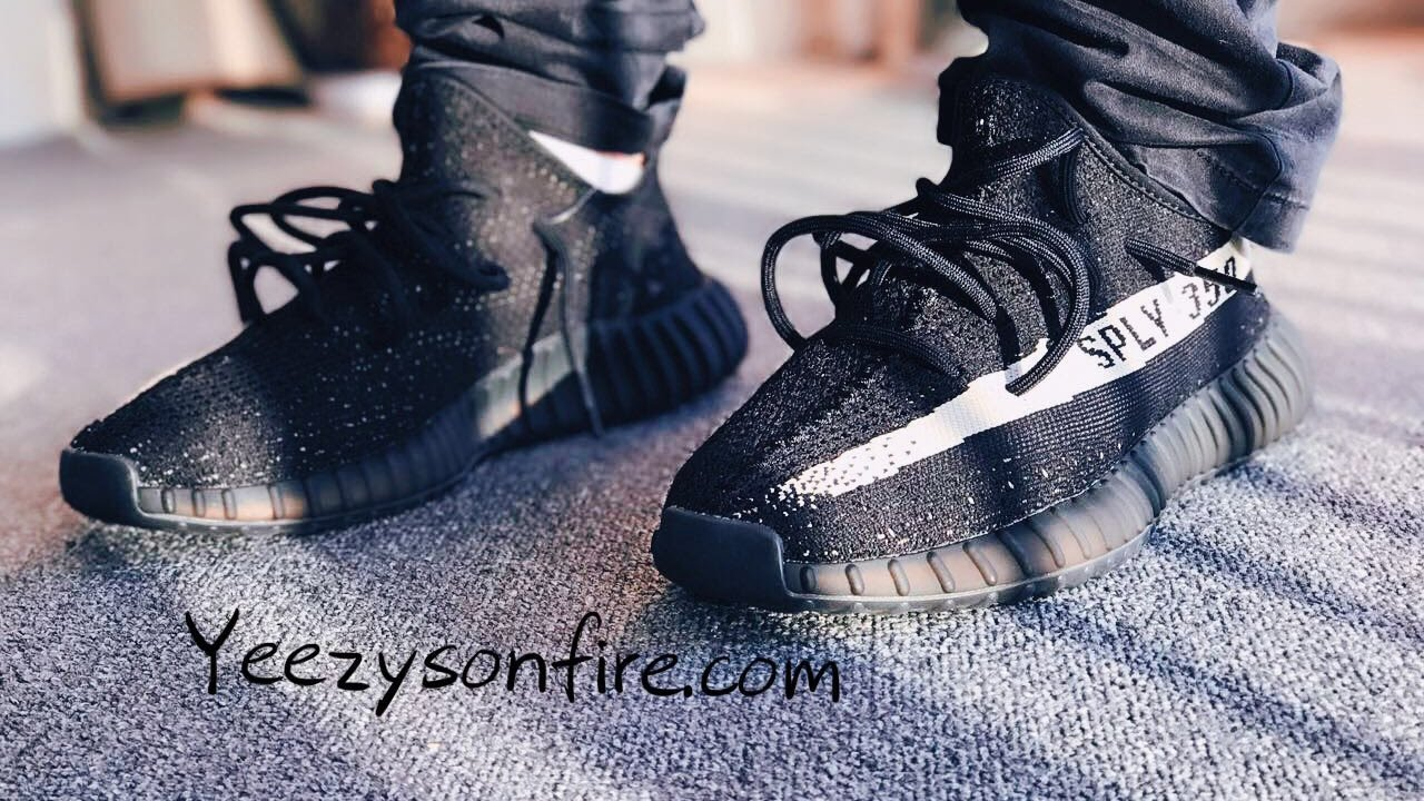 yeezy oreo on feet Yeezy Boost V2 Core Black White Oreo On feet review from Yeezysonfire com