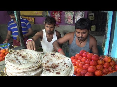 Over Thousands of People Eating Paratha Everyday | Street Food Besides Shyamnagar Railway Station