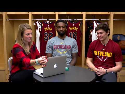 Allie Clifton goes live with Cavs players Cedi Osman & Jeff Green