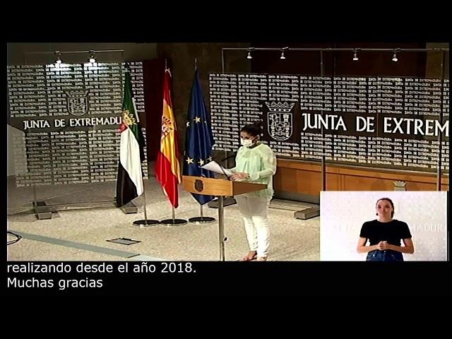 La consejera de Igualdad y portavoz de la Junta de Extremadura, Isabel Gil Rosiña.