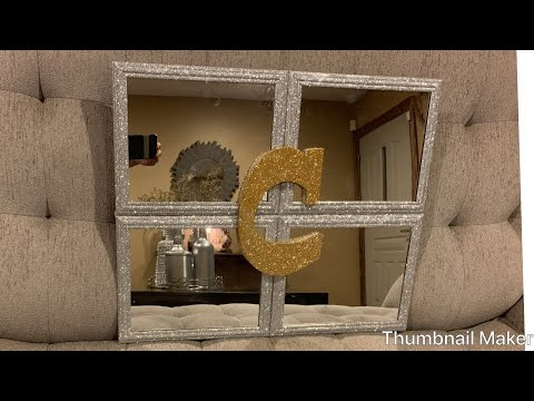 HOW TO MAKE THESE GORGEOUS GLAMOUR MIRROR FOR YOUR HOME