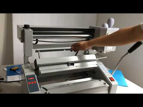 Assembly and operating video of the Book Binding Machine